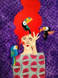 Hülya Özdemir is an artist born in Istanbul, Turkey, who creates beautiful images halfway between art and illustration, with watercolors. The protagonists of th Art And Illustration, Arte Fashion, Fashion Design, Inspiration Art, Watercolor Artwork, Animal Design, Portrait Art, Female Art, Illustrators