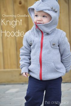 charming doodle knight hoodie