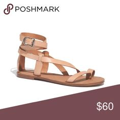 Madewell Sandals A fresh, refined take on a timeless gladiator, this soft leather sandal wraps twice around the ankle. With a nod to traditional shoemaking techniques, our designers left the nailheads visible on the soles. **** more pics to be added! Madewell Shoes Sandals