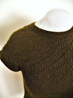 PDF Knitting Pattern / Apollonius Yoked Summer Sweater
