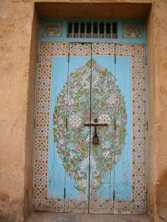 handpainted door