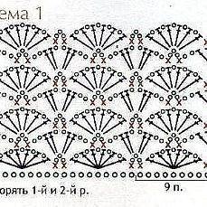 Crochet Stitches Chart, Crochet Shell Stitch, Crochet Motifs, Crochet Collar, Crochet Lace, Crochet Patterns, Crochet Skirt Pattern, Granny Square Crochet Pattern, Crochet Diagram