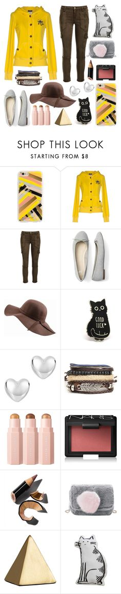 """gilded"" by crimson-quartz ❤ liked on Polyvore featuring Rifle Paper Co, Richmond Denim, Joie, N'Damus, NARS Cosmetics and Bobbi Brown Cosmetics"