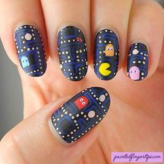 The Digital Dozen Does Decades - 80s Pacman - Painted Fingertips
