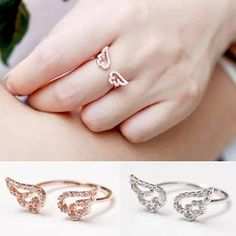 Buy Ticoo Wing Motif Rhinestone Studded Open Ring at YesStyle.com! Quality products at remarkable prices. FREE WORLDWIDE SHIPPING on orders over US$35.