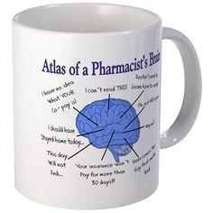 Atlas of a Pharmacists Brain 11 oz Ceramic Mug
