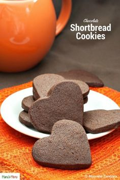 The recipe for Chocolate Shortbread Cookies - the perfect buttery chocolate cookies!