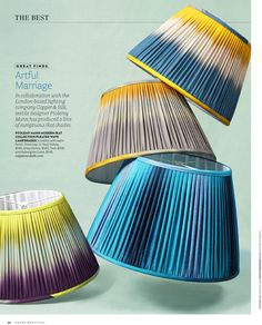 Ikat lampshades from Copper and Silk in House Beautiful Interior Design Inspiration, Home Decor Inspiration, Color Inspiration, Vanderbilt Houses, Lampshade Designs, Lampshade Ideas, Lighting Techniques, Dramatic Lighting, Still Life Photographers