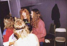 Cliff Burton, Chris Poland, Gar Samuelson, Dave Mustaine and David Ellefson. Metallica, Nick Menza, David Ellefson, Jason Newsted, Cliff Burton, Dave Mustaine, Bob Seger, Joan Jett, Thrash Metal