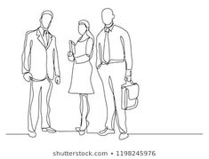 continuous line drawing of three business professionals standing confident Continuous Line Drawing, Graphic Design Art, Confident, Doodles, Illustrations, Business, Drawings, Women, Women's
