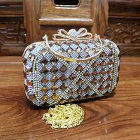 Cristal especial Nob de strass dama de honra de casamento festa de embreagem bolsas mulheres bolsas jantar bolsa