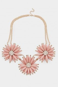 Flower Life Necklace in Pink