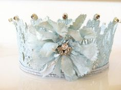 {$30}Blue Lace Crown Photo Prop by StunningByDesign on Etsy. , via Etsy.