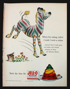 Type: Original vintage advertisement Company: General Foods Corporation Product: Jello / Jell-O Source: Life Magazine Year: 1955 Page Size: