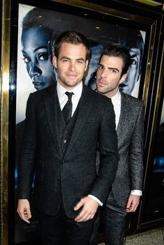 Chris Pine / Zachary Quinto - ok, that's a nice picture hahahaha