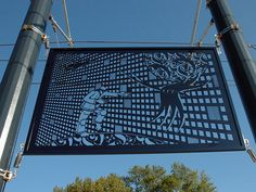 RUNNING MAN (Enamel covered water cut steel drawing commissioned by Seattle's Sound Transit system. 2008)