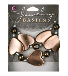 Jewelry Basics Acrylic Beads-Brown and Gold Spacers 10/Pkg