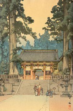 吉田博 Hiroshi Yoshida『東照宮』