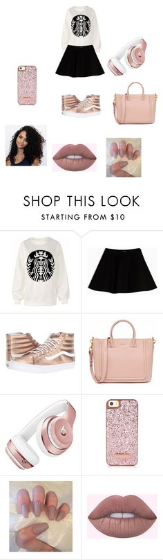 """""""Rose Gold"""" by julierashy on Polyvore featuring Max&Co., Vans and Beats by Dr. Dre"""