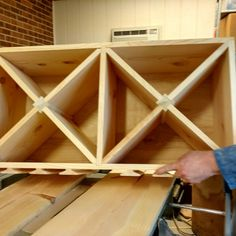 Working on a custom wine rack Stemware holder going out to Missouri