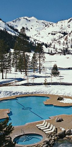 Lake Tahoe the pool where you can stand in Nevada and California at the same time