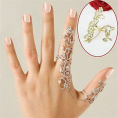Women Rings Multiple Finger Stack Knuckle Band Crystal Set Fashion Jewelry Gift