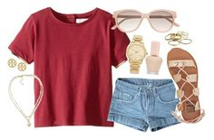 """""""Untitled #1560"""" by ibthal-hussain ❤ liked on Polyvore featuring Burberry, Paul & Joe, Billabong, Carolee, Tory Burch, Witchery, Michael Kors and Kendra Scott"""