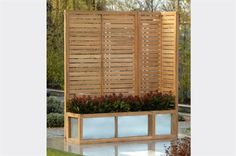 Hampton teak garden screening with integrated planters! £300