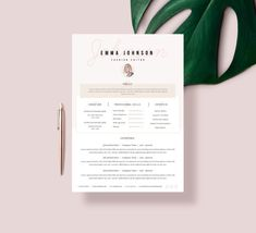 Imagine having a fully editable modern resume template which presents you in the creative and professional way. Resume template which can help You stand out Template Cv, Modern Resume Template, Cover Letter Template, Creative Resume Templates, Letter Templates, Stationery Templates, Design Templates, Microsoft Word, Free Business Card Templates