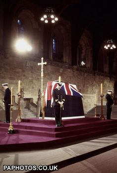 Sir Winston Churchill Lying in State - Westminster Hall 1965
