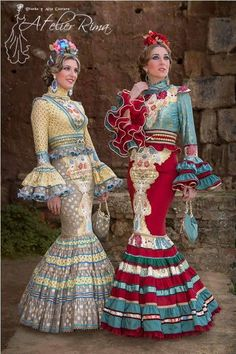 Atelier Rima Flamenco Party, Flamenco Costume, Flamenco Dresses, Boho Fashion, Fashion Dresses, Costumes Around The World, Edwardian Dress, Mermaid Gown, Yes To The Dress