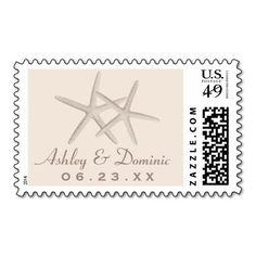 Wedding Monogram Postage Stamp | Starfish Design