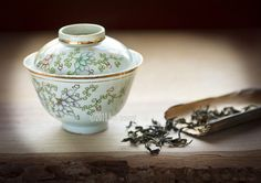"Qing Dynasty Gaiwan  Teaware reflects the philosophy of the age and region in which it is being used and appreciated. The character or ""nature"" of the objects,used to make and serve the tea frames the experience and brings emotions to the moment."