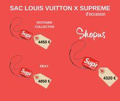 2b2d44b68ba8 COMPARATIF OCCASION  Sac Louis Vuitton x Supreme  vente  occasion  mode   trend