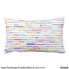 Jamar Text Design II Lumbar Pillow