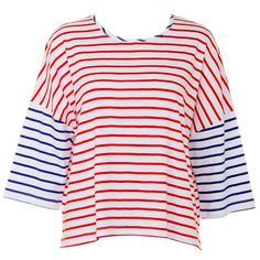Bicolor Striped T-shirt (2 Colors); Picked by #tara | Spring & Summer | Dolly & Molly | www.dollymolly.com | #Tiara #kpop #fashion #street #styling #musicbank #ment
