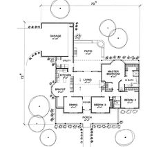 First Floor Plan image of The Chathom House Plan