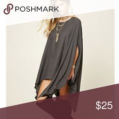 Heathered handkerchief poncho Never been worn. NEXT DAY SHIPPING!! Tops