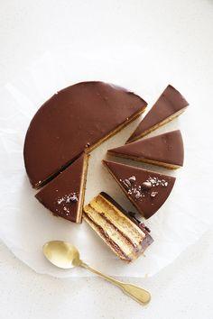 Cakelets and Doilies: Hazelnut Opera Cake