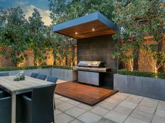 "Fantastic ""outdoor kitchen designs layout patio"" information is readily available on our internet site. Modern Outdoor Cooking, Outdoor Barbeque, Outdoor Cooking Area, Outdoor Kitchen Patio, Outdoor Kitchen Design, Outdoor Living, Outdoor Decor, Outdoor Kitchens, Backyard Garden Design"