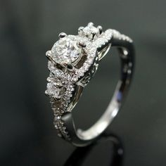 Vintage Style Diamond Engagement Ring & Wedding by JoyGlowJewelry, $1850.00
