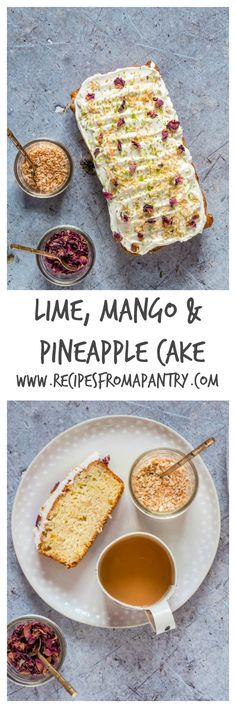Lime Mango and Pineapple Loaf Cake – African Flavours - Recipes From A Pantry Baking Recipes, Cake Recipes, Dessert Recipes, Desserts, Pavlova, Cheesecakes, Pineapple Cake, Pineapple Recipes, Loaf Cake