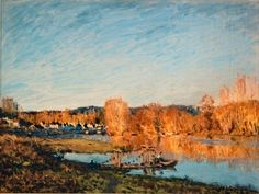 """HowStuffWorks """"Autumn: Banks of the Seine near Bougival by Alfred Sisley"""""""