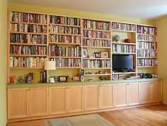 built in bookshelves galore