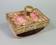 Antique French Empire Dore Bronze Crystal Blotter