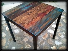 Custom Bistro Table Made from Reclaimed Pallet by HappyHomeAustin