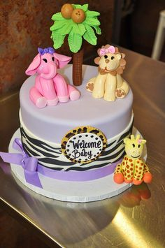 Jungle Baby Shower Cake idea. This would match Arabella's room.