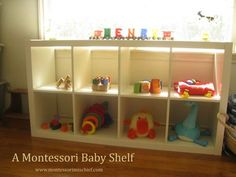 A Montessori Baby Shelf (Photo from Montessori 101)