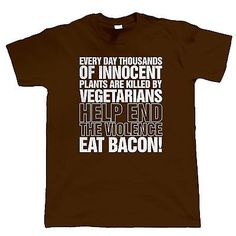 Eat Bacon Mens Funny T Shirt - Fathers Day Gift for Dad Birthday