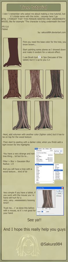 Tutorial tree by ~Sakura984 on deviantART ✤ || CHARACTER DESIGN REFERENCES | キャラクターデザイン | • Find more at https://www.facebook.com/CharacterDesignReferences & http://www.pinterest.com/characterdesigh and learn how to draw: concept art, bandes dessinées, dessin animé, çizgi film #animation #banda #desenhada #toons #manga #BD #historieta #strip #settei #fumetti #anime #cartoni #animati #comics #cartoon from the art of Disney, Pixar, Studio Ghibli and more || ✤